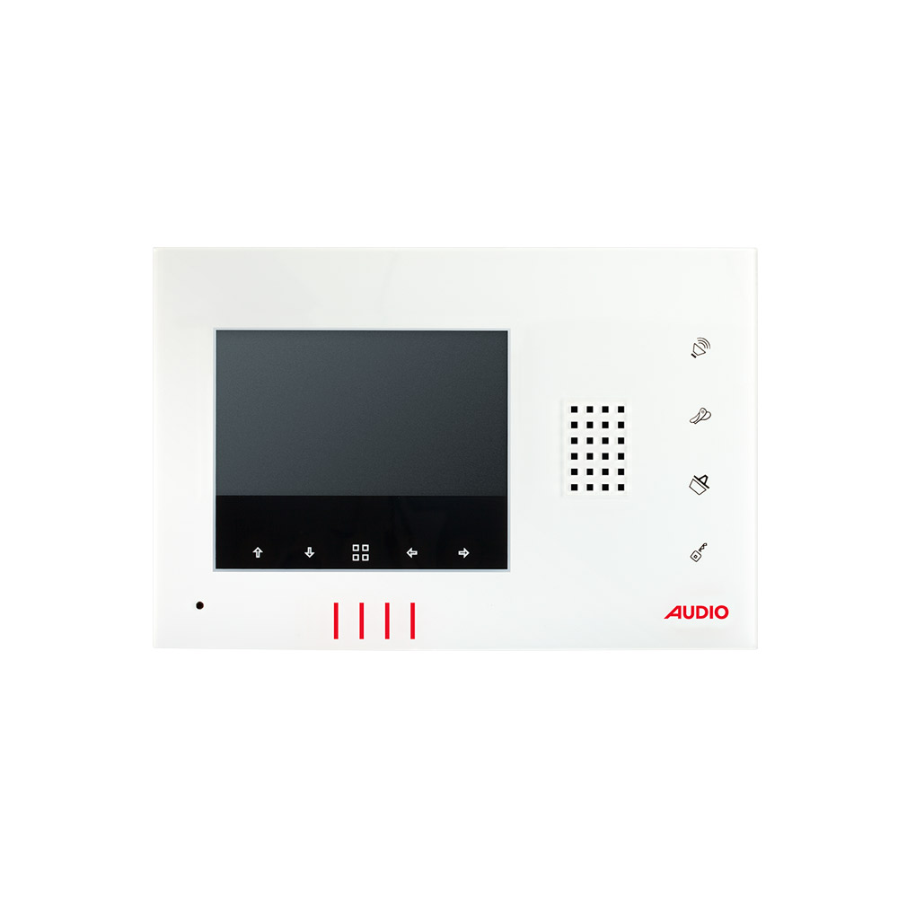4.3″ Dokunmatik Butonlu Görüntülü Diafon Bus Plus (Beyaz)